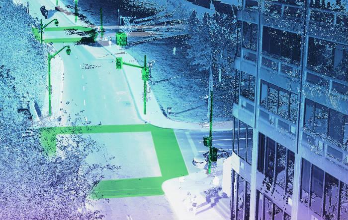capture écran projet pilote détectant les obstacles sur la route