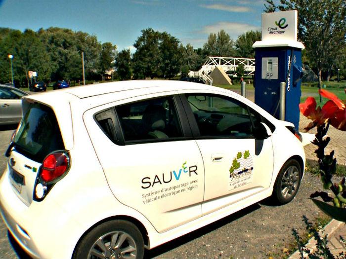 SAUVeR, un véhicule d'autopartage à Plessisville