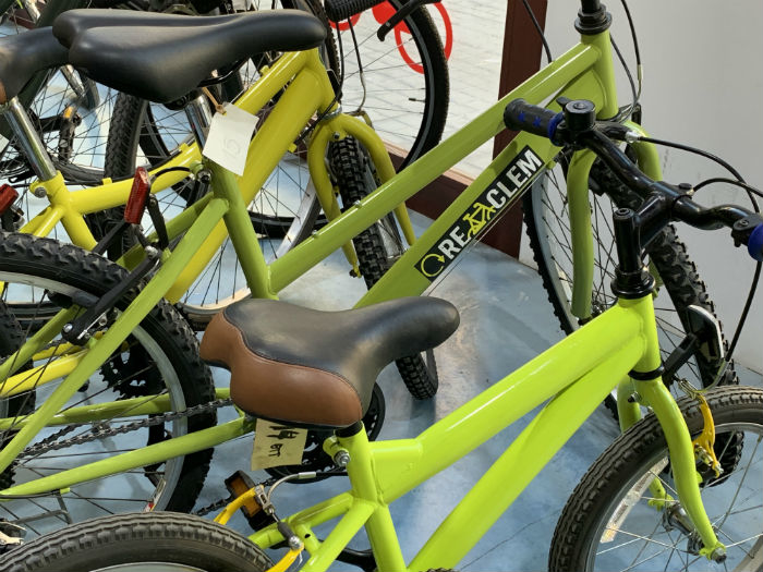At the Bicihub, you can buy a recycled bike and have it completely refurbished