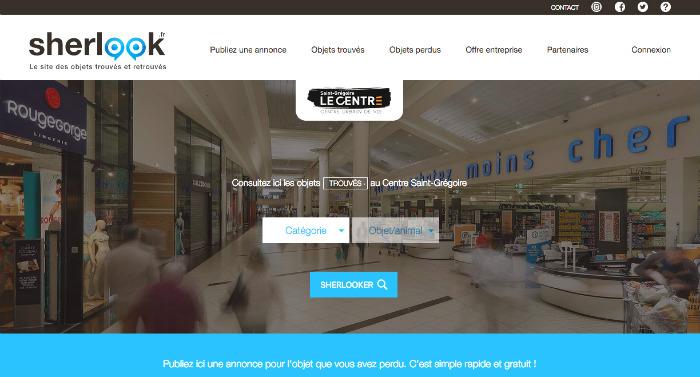 sherlook, capture d'écran du site