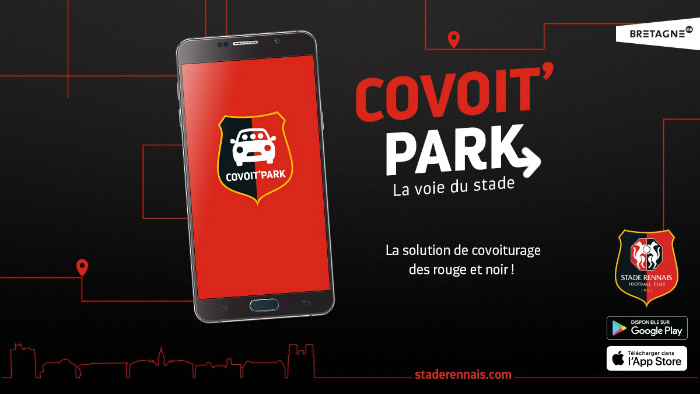 covoitpark, the carpool service for supporters of the stade rennais