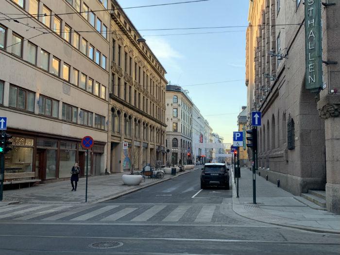 rue déserte à oslo