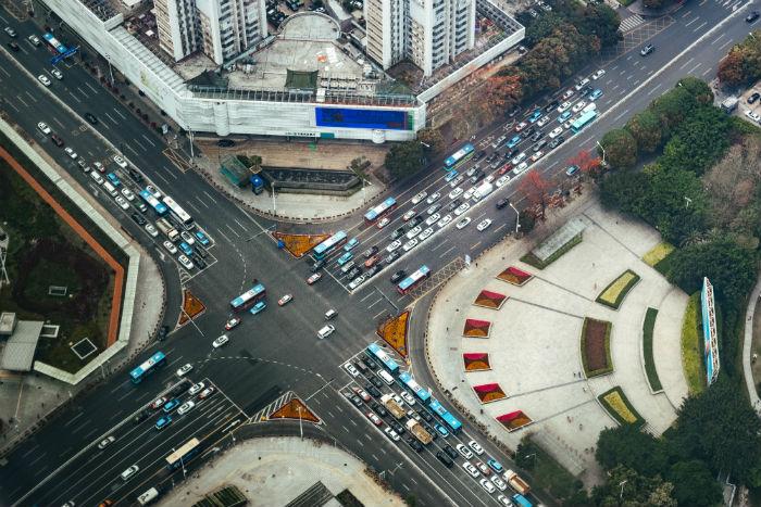 vue aérienne de shenzhen